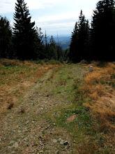 Photo: Z Czantorii jadę znanym już czerwonym szlakiem w kierunku Kubalonki.