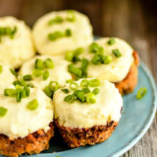 Kid Friendly Skinny Meatloaf Muffins With Mashed Potatoes.