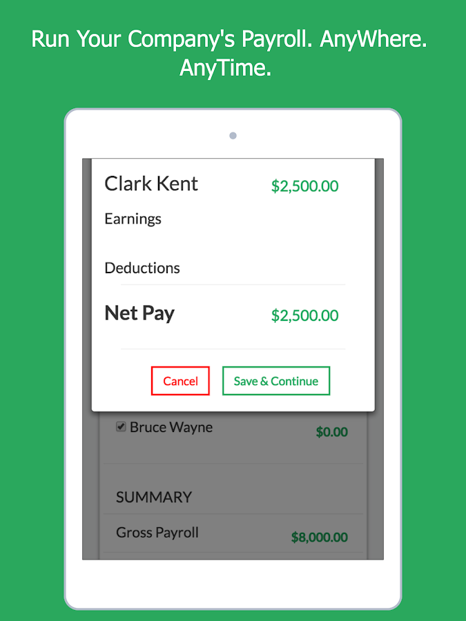 Simon: 3-Click Paperless Payroll- screenshot