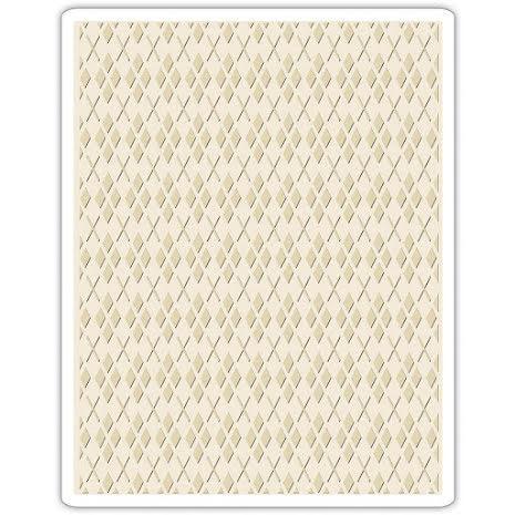 Tim Holtz Sizzix Texture Fades Embossing Folders - Argyle
