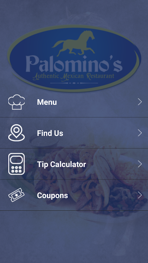 Palominos Mexican Restaurant: captura de pantalla