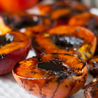 Grilled Balsamic Peaches.