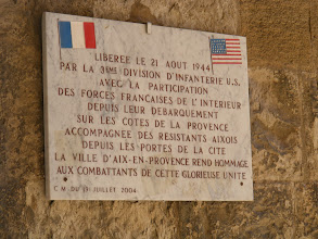 Photo: This plaque commemorates the city's liberation on August 21, 1944 by combined US and French (both military and local resistance) forces, with praise given to the unified liberators.