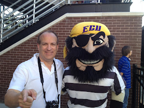 Photo: With Pee Dee, the official mascot of the East Carolina University (ECU) Pirates.