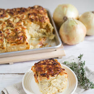 Caramelized Onion and Gruyere Bread Rolls.