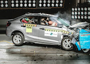 The Honda Amaze achieved a solid four stars for adult occupant protection in the frontal crash test at 64km/h.