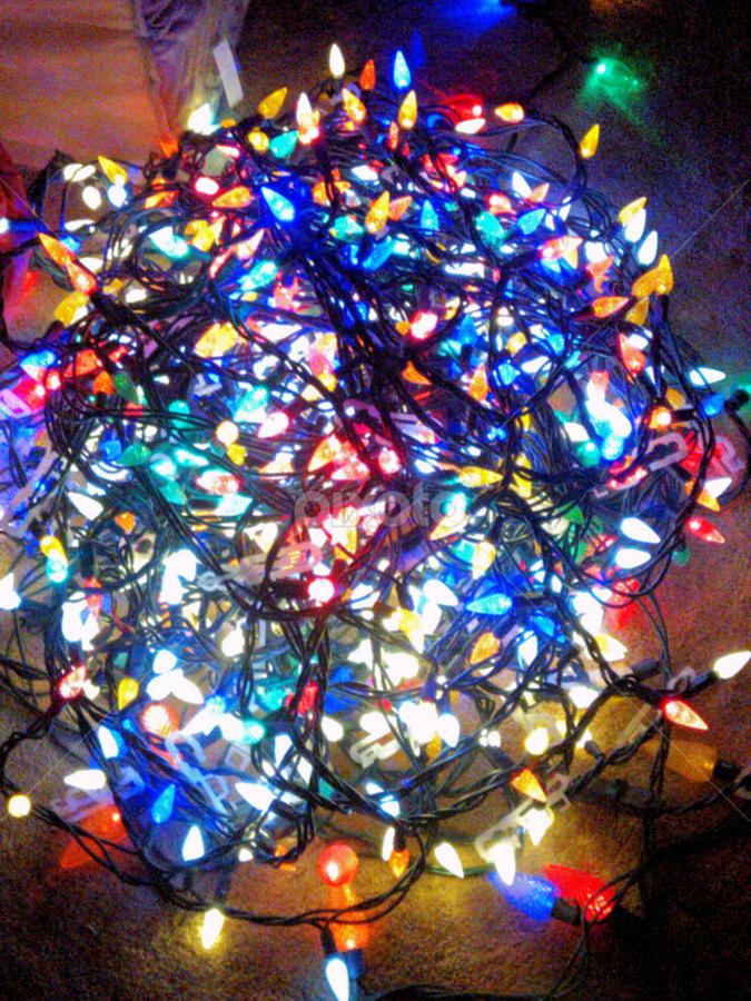 Christmas Lights All Tangled Up Light Painting Abstract Pixoto