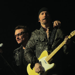 U2's Bono and The Edge by Eason Jordan - People Musicians & Entertainers