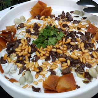 Fattet Foul Akdar (Broad  Green Fava Beans Fatteh )