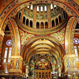 Lisieux - Plafond de la Basilique by Gérard CHATENET - Buildings & Architecture Places of Worship (  )