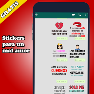 Mejor Stickers de Amor frases memes WAStickerApps Screenshot