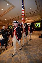 Photo: ...color guard marches out