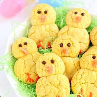 Easter Chicks Lemon Cookies.