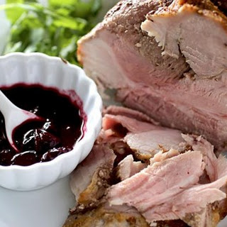 Roast Pork with Blueberry Port Sauce