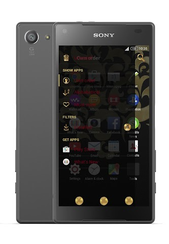 android Gold & Carbon Style Theme Screenshot 1