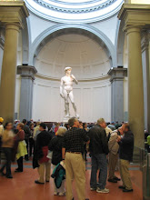 Photo: Michaelangelo's David. You are not supposed to use cameras in the gallerys, but everyone was trying to sneak a picture.