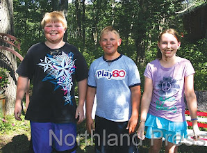 Photo: Ice Cream Contest Winners 9-12 years: First: Shain Dalbec, 11 yrs; Second: Jacob Schneider,12 yrs; Third: Alex Stone,12 yrs - photo by Paul Boblett