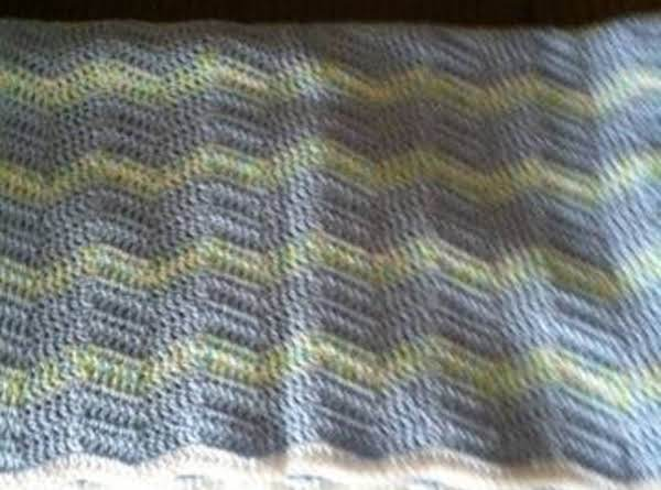 The 3rd Baby Blanket I Made Using The Wave Pattern.