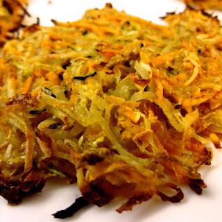 Baked Potato, Sweet Potato, and Zucchini Latkes Recipe