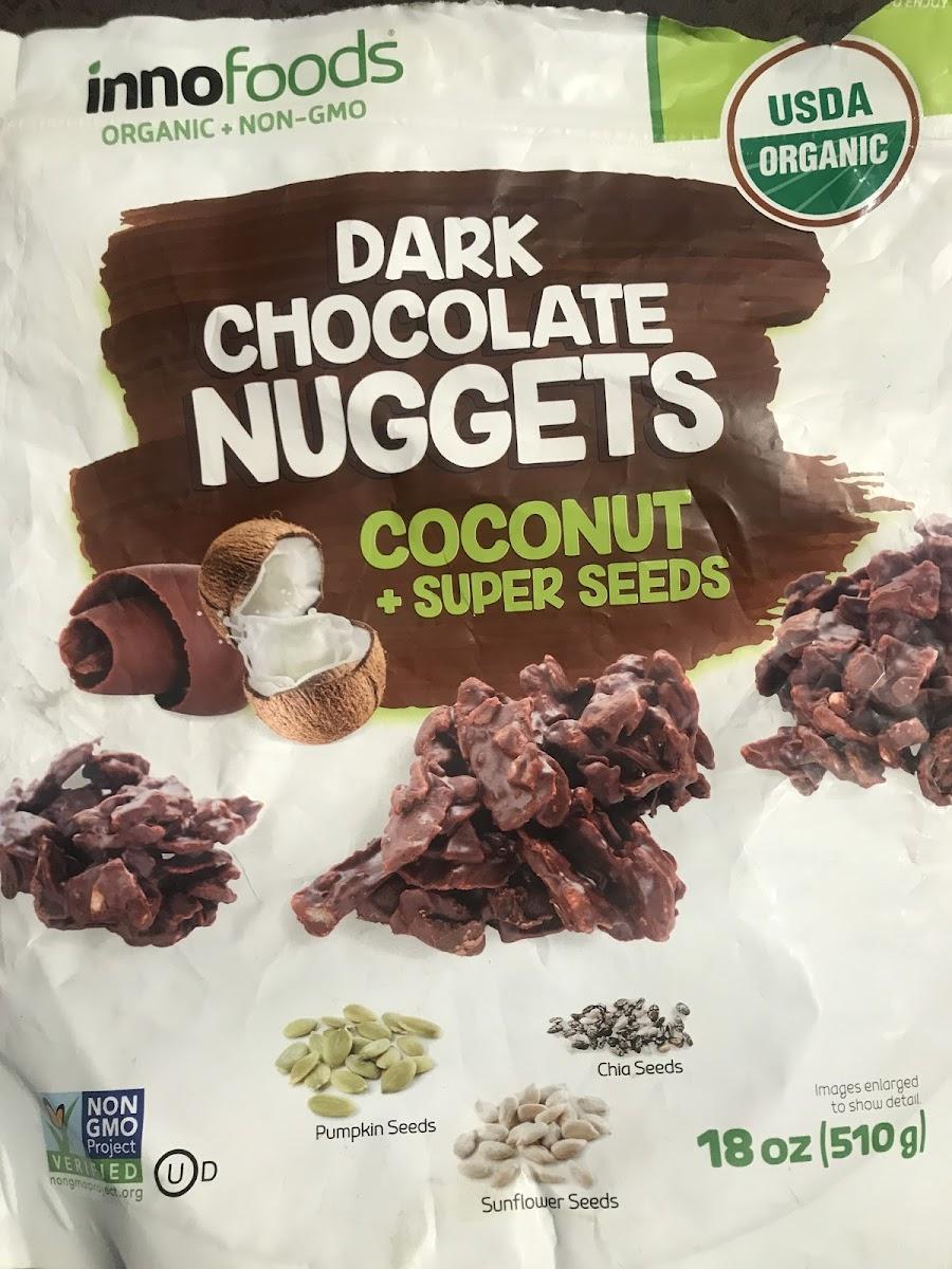 Dark chocolate nuggets