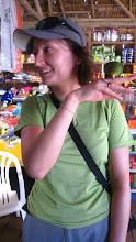 Photo: Ewa hold a tiny parrot