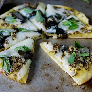 Pesto, Basil and Mozzarella Pizza