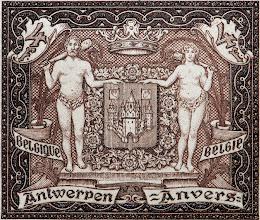 Photo: Exposition philatélique d'Anvers (9-8-1930). Armoiries de la ville.