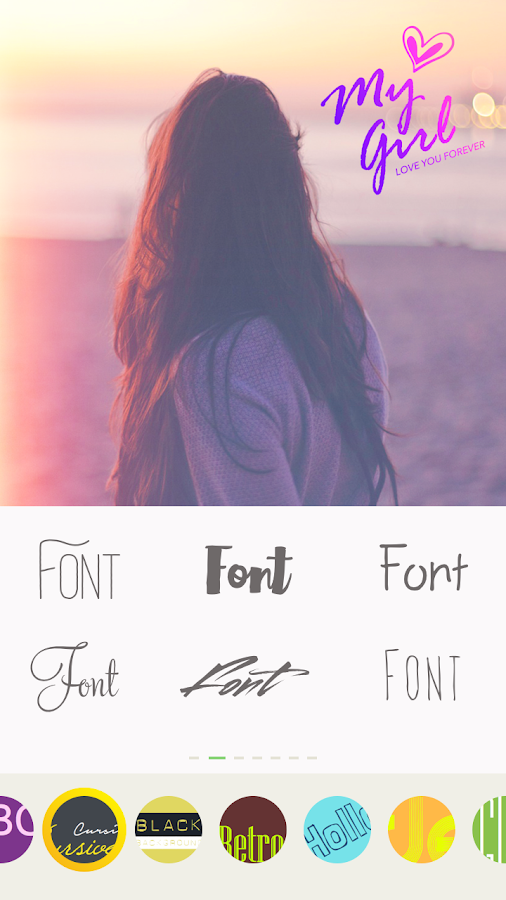 Text on pictures - Write words, Text, Pixel fonts- screenshot