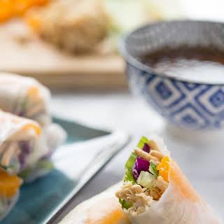 Chinese Chicken Salad Spring Rolls.