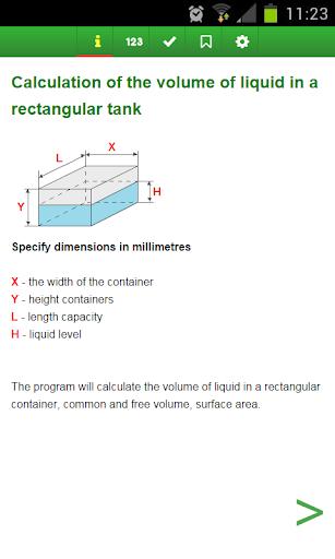 Volume of a rectangular tank