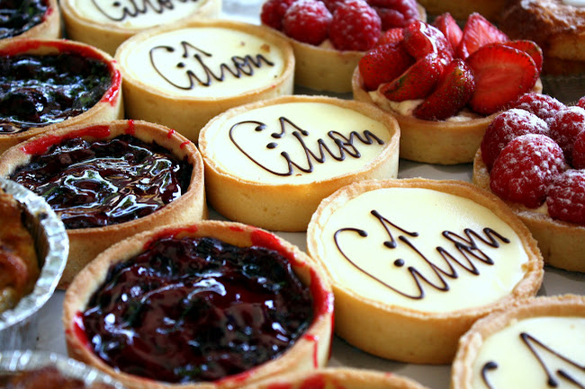 Tarts at a Market in Chelsea, London