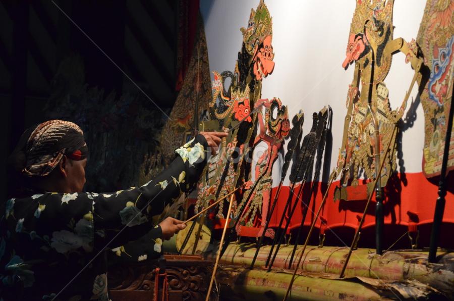 Wayang Kulit by Azzah Rahman - Artistic Objects Still Life ( jogjakarta, traditional show, pwcstilllife, yogya, wayang kulit, puppet show )