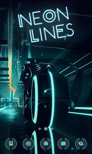 Neon Lines GO Launcher