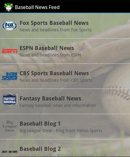 Baseball News Feed
