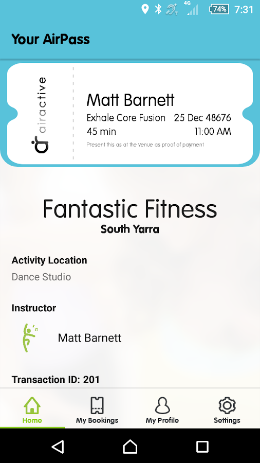 AirActive: Find+Book Workouts- screenshot