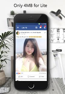 Lite for Facebook and Messenger - náhled