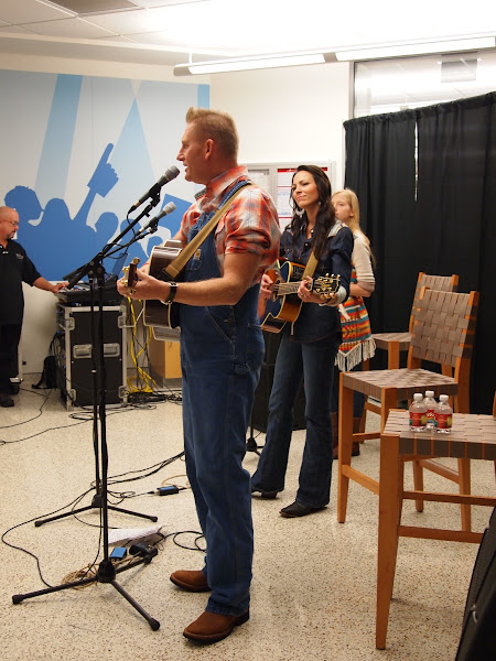 Photo: We were treated to an INDOOR :) concert from Joey+Rory.