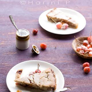 Thin crust cherry tart – Eggless | Dairy and Gluten free | Vegan