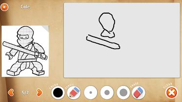How to draw ninja on phone - screenshot thumbnail 05