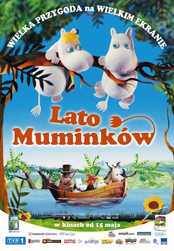Polski plakat filmu 'Lato Muminków'