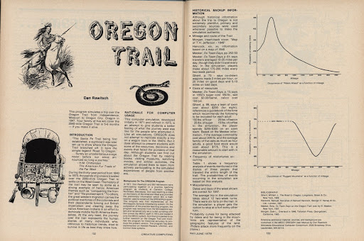 Oregon Trail Creative Computing Magazine Article