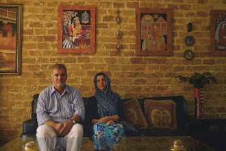 Photo: Dr Fuad A. Ommar, philosopher and writer, with his wife in Suleymaniya, 2014