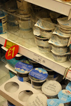 Photo: I was surprised at how small a range of plain yoghurts there was compared to my normal stores but the price of the own-label greek yoghurt was pretty appealling.