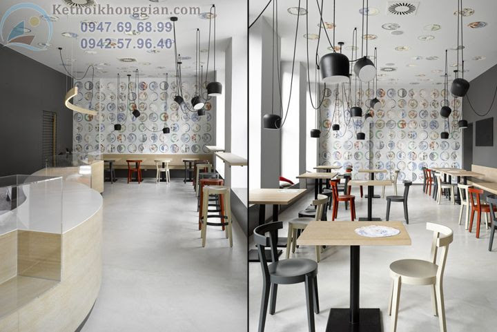 thiết kế quán bar và thiết kế cửa hàng bánh ngọt