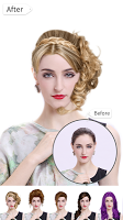 screenshot of Hairstyle Changer 2020 - HairStyle & HairColor Pro