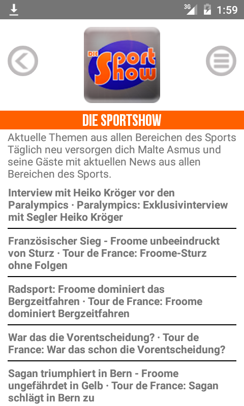 meinsportradio.de – Screenshot