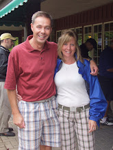 Photo: Chris Healey and Cindy Egan swap their shorts