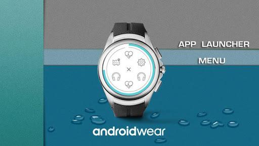 flat watch face & clock live wallpaper screenshot 3