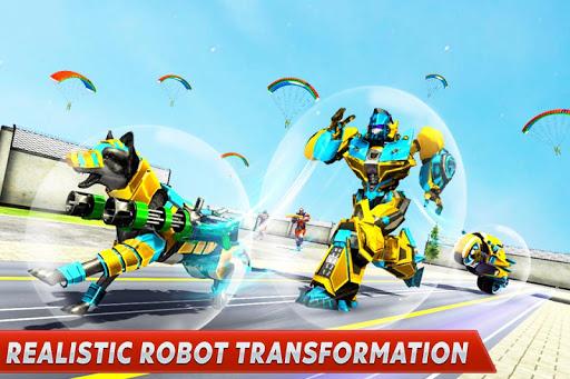 Dog Robot Transform Moto Robot Transformation Game filehippodl screenshot 4