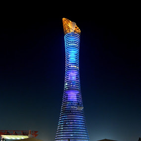 The Doha Torch tower by Muhammad Ali - City,  Street & Park  Historic Districts